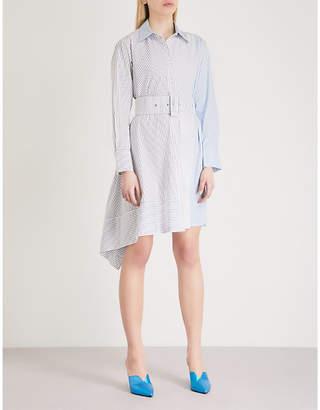 Mo&Co. Asymmetric cotton shirt dress