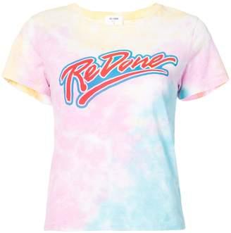 RE/DONE Tie Dye Logo Tee