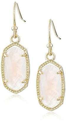"Kendra Scott Signature"" Lee Gold plated Rose Quartz Drop Earrings"