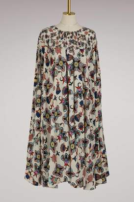 Valentino Pop Flower silk long dress