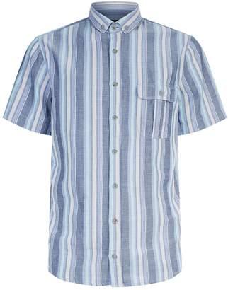 BOSS ORANGE Cotton Stripe Print Shirt