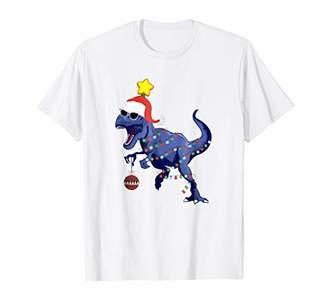 Dinosaur Christmas Shirt Tree Rex Boys Kids Men Pajamas Gift