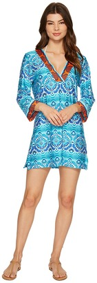 La Blanca - All In the Mix V-Neck Tunic Cover-Up Women's Clothing $99 thestylecure.com