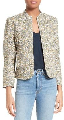 Women's La Vie Rebecca Taylor French Marigold Cotton Jacket $375 thestylecure.com