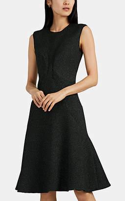 Zac Posen Women's Diamond-Pattern Jacquard Flared Dress - Grn. Pat.