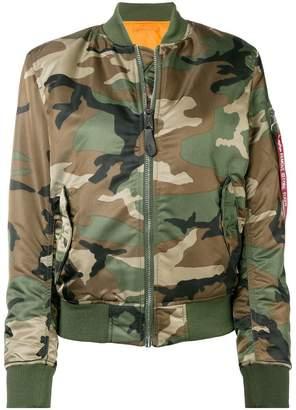 Alpha Industries reversible bomber jacket