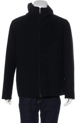 Giorgio Armani Wool Zip-Up Jacket