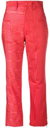 Marine Serre high-waisted plasticized trousers
