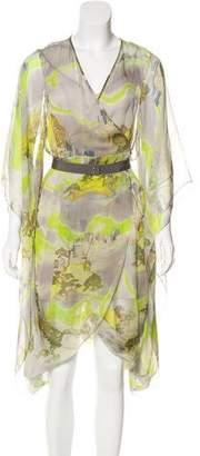 Matthew Williamson Silk Kimono Sleeve Dress