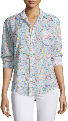 Frank And Eileen Barry Long-Sleeve Voile Shirt, Floral