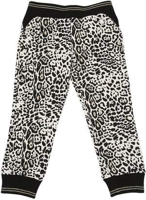 Roberto Cavalli Leopard Printed Cotton Sweatpants