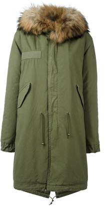 Mr & Mrs Italy trimmed hood midi parka