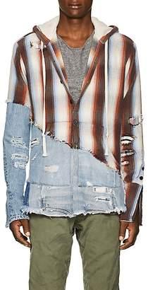 Greg Lauren Men's Striped Cotton Baja Hoodie