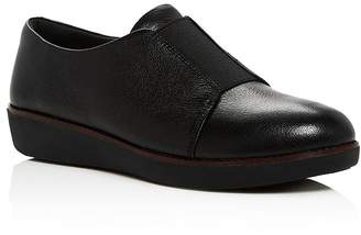 a5e39eed098 FitFlop Women s Laceless Derby Leather Slip-On Sneakers