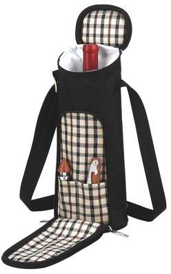 Picnic at Ascot London Single Bottle Carrier with Tools