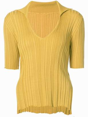 Jacquemus side-slit ribbed jumper