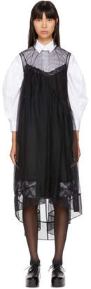 Simone Rocha Black Layered Tulle Babydoll Dress