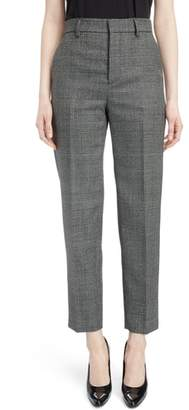 Balenciaga Prince of Wales Wool Carrot Trousers