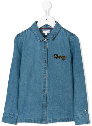 Tommy Hilfiger Junior chest logo denim shirt