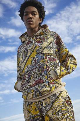 Champion UO Exclusive Allover Paisley Print Hoodie Sweatshirt