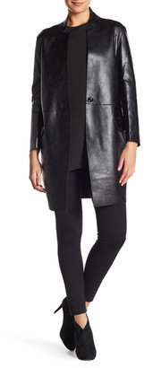 Gracia Faux Leather Jacket $157 thestylecure.com