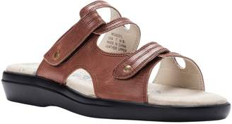 Propet Leather Slide Sandals with Ortholite Foam - Marina