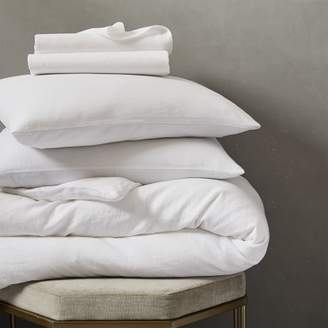 west elm Belgian Flax Linen Bedding Set - White