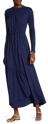 Couture Go Modest Tiered Wrap Maxi Dress