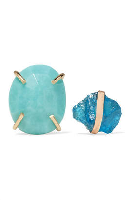 Melissa Joy Manning 14-karat Gold, Apatite And Turquoise Earrings