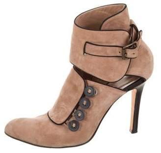 Manolo Blahnik Cutout Ankle Boots