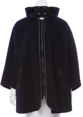 Vince Hooded Wool Poncho
