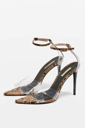 Topshop RITCHIE Clear Strap Sandals