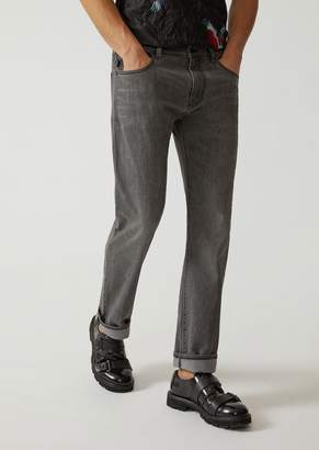 Emporio Armani J45 Slim Fit Stretch Cotton Denim Jeans