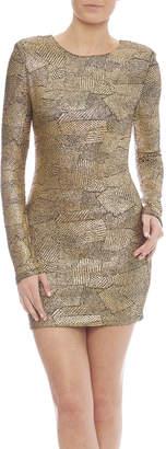 Zio Faux Snakeskin Print Dress
