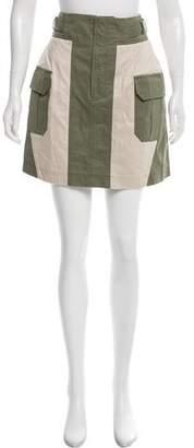 Marissa Webb Colorblock Mini Skirt