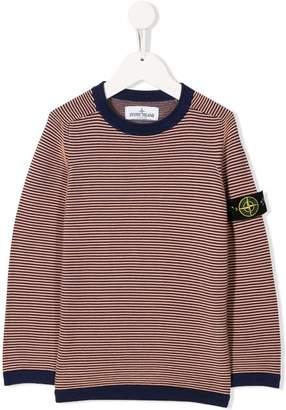 Stone Island Junior horizontal striped jumper