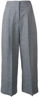 YMC checked wide-leg trousers