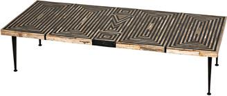 Noir Deco Onyx Inlaid Coffee Table