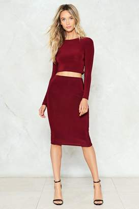 Nasty Gal Time to Pair Up Top and Skirt Set