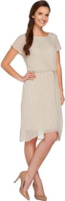 Halston H By H by Printed Dress with Twist Front Detail