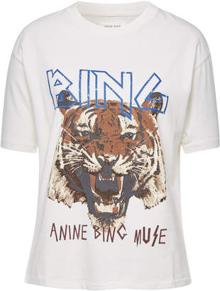 Anine Bing Tiger Cotton T-Shirt