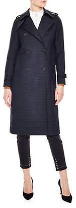 Sandro Windsor Tartan Trench Coat