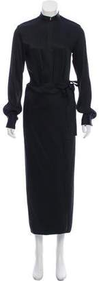 Rosetta Getty Belted Long Sleeve Dress