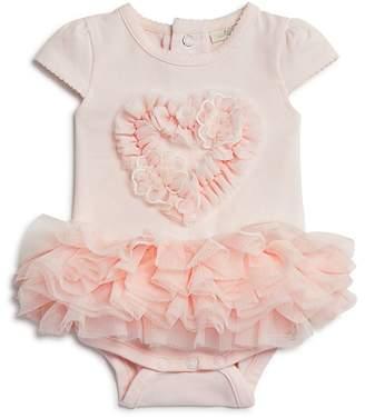 Miniclasix Girls' Tutu & Heart Appliqué Bodysuit - Baby
