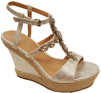 Silver Rhinestone Beverly Wedge Sandal $49.99 thestylecure.com
