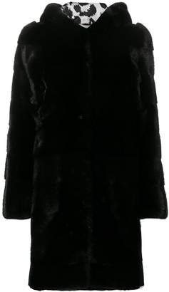 Philipp Plein fur hooded coat