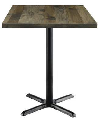 "LOFT Kfi KFI Urban 30"" Square Vintage Wood Bistro Table, Barnwood"
