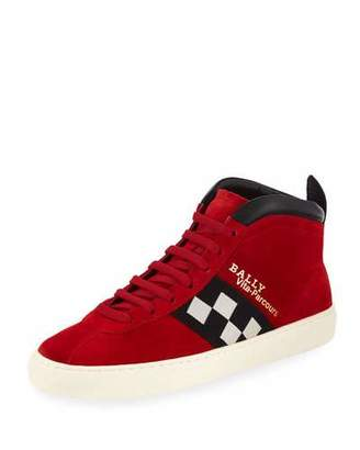Bally Men's Vita Parcours Retro Suede High-Top Sneakers