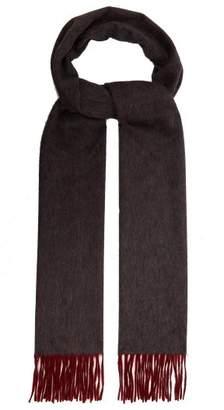 Co Begg & Arran Reversible Cashmere Scarf - Mens - Grey Multi