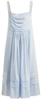 Three Graces London - Linton Sleeveless Cotton Voile Nightdress - Womens - Light Blue